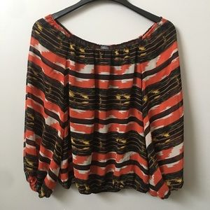 Vince Camuto Graphic Patterned Blouse